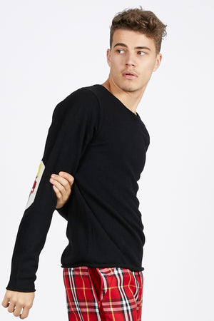 Unisex Cashmere Jumper with Guard Elbow Patches