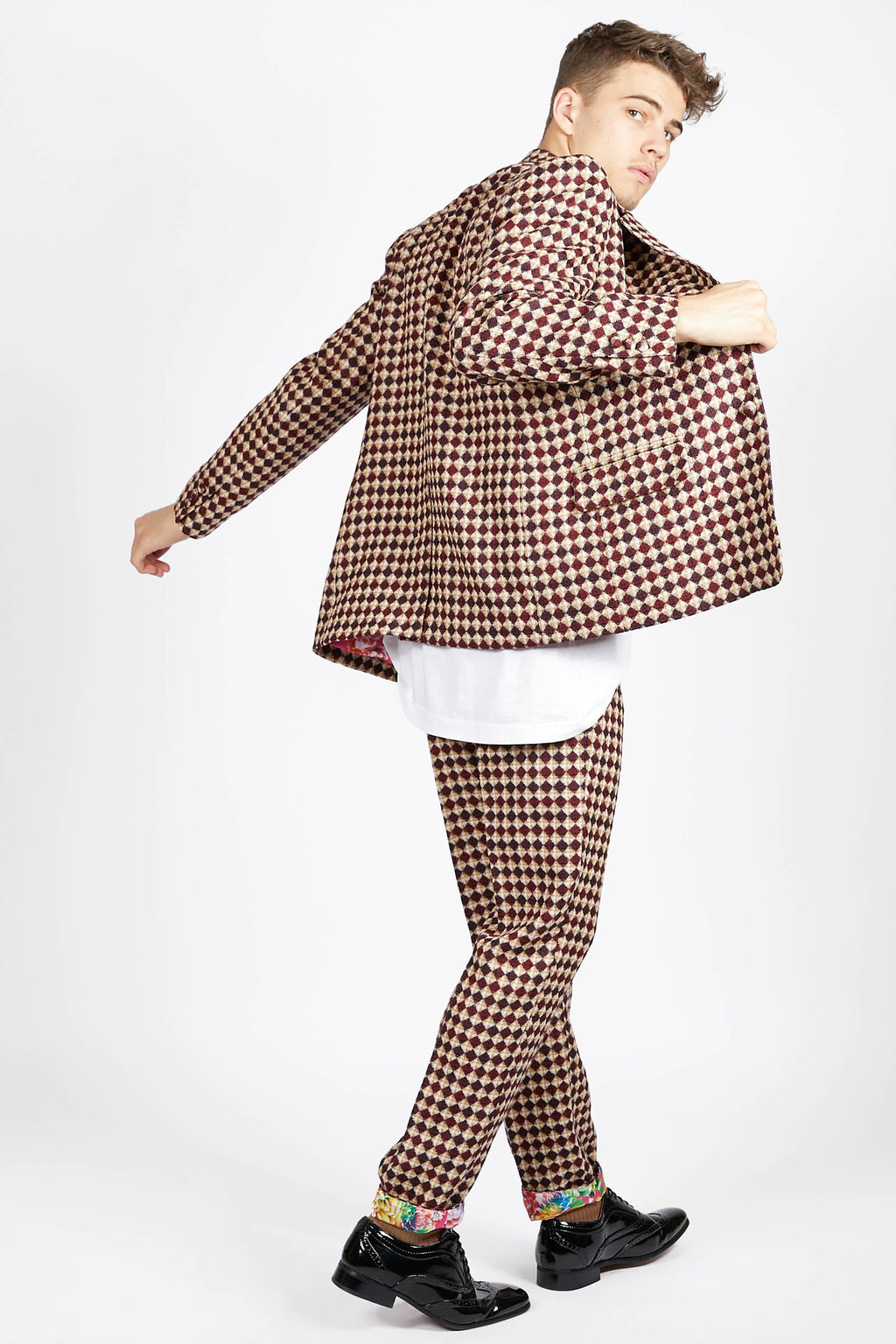 Ilona Rich Diamond Check Suit Jacket