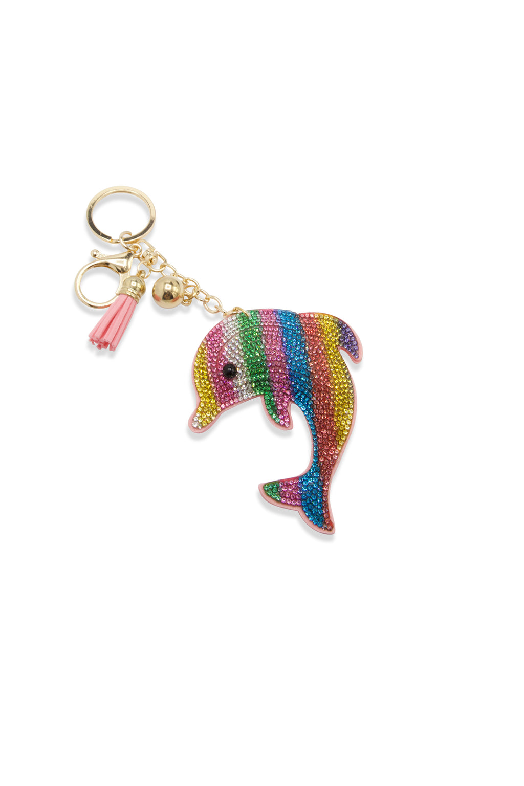 Sparkling Multicolor Dolphin Keychain