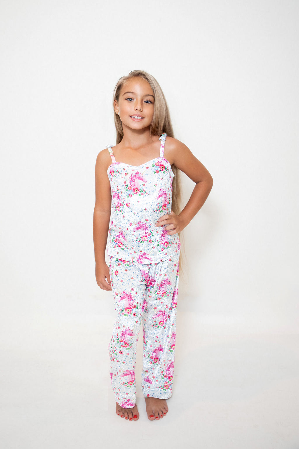 Kids Unicorn Velvet Trousers