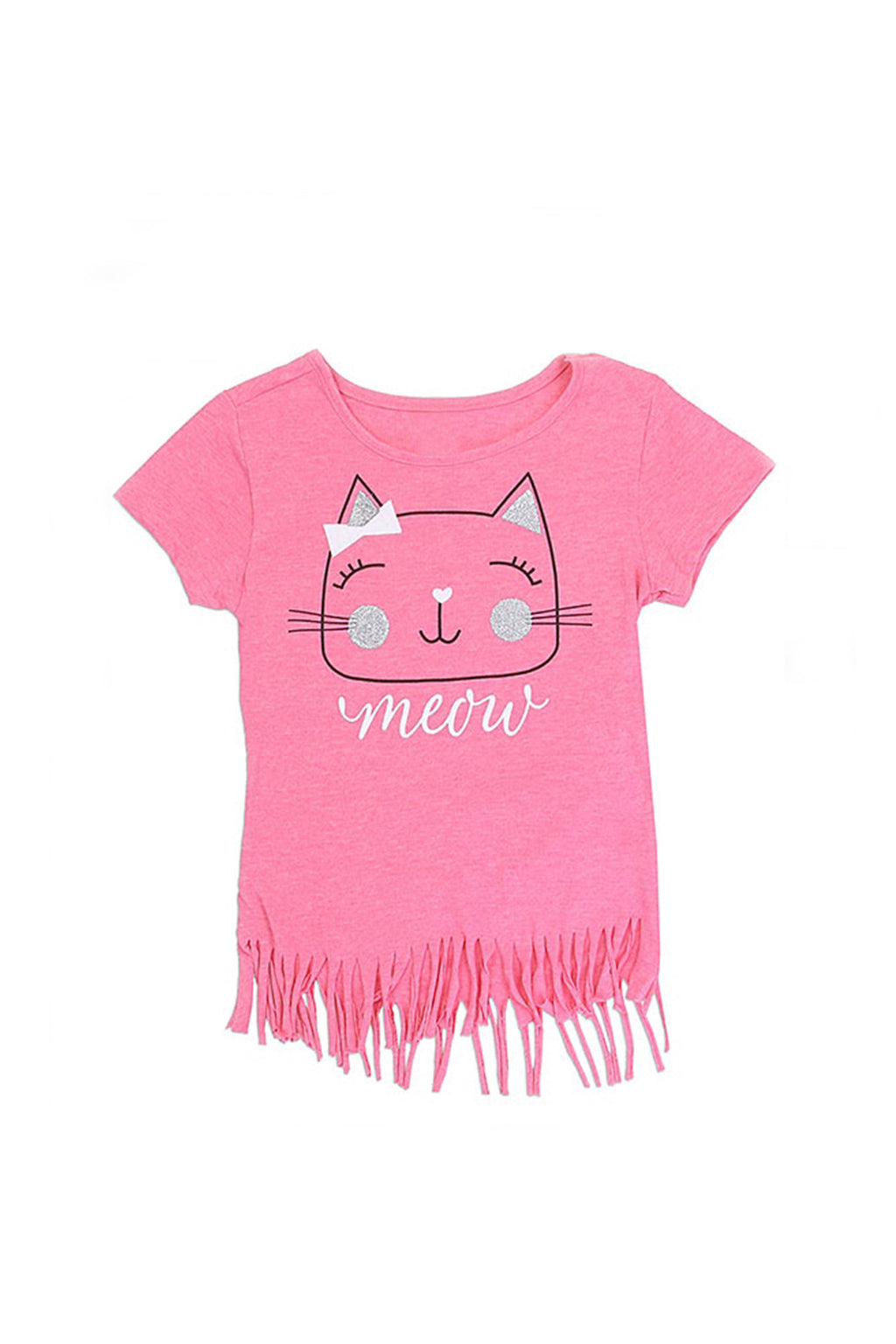 Girls Glittery Kitty T-Shirt