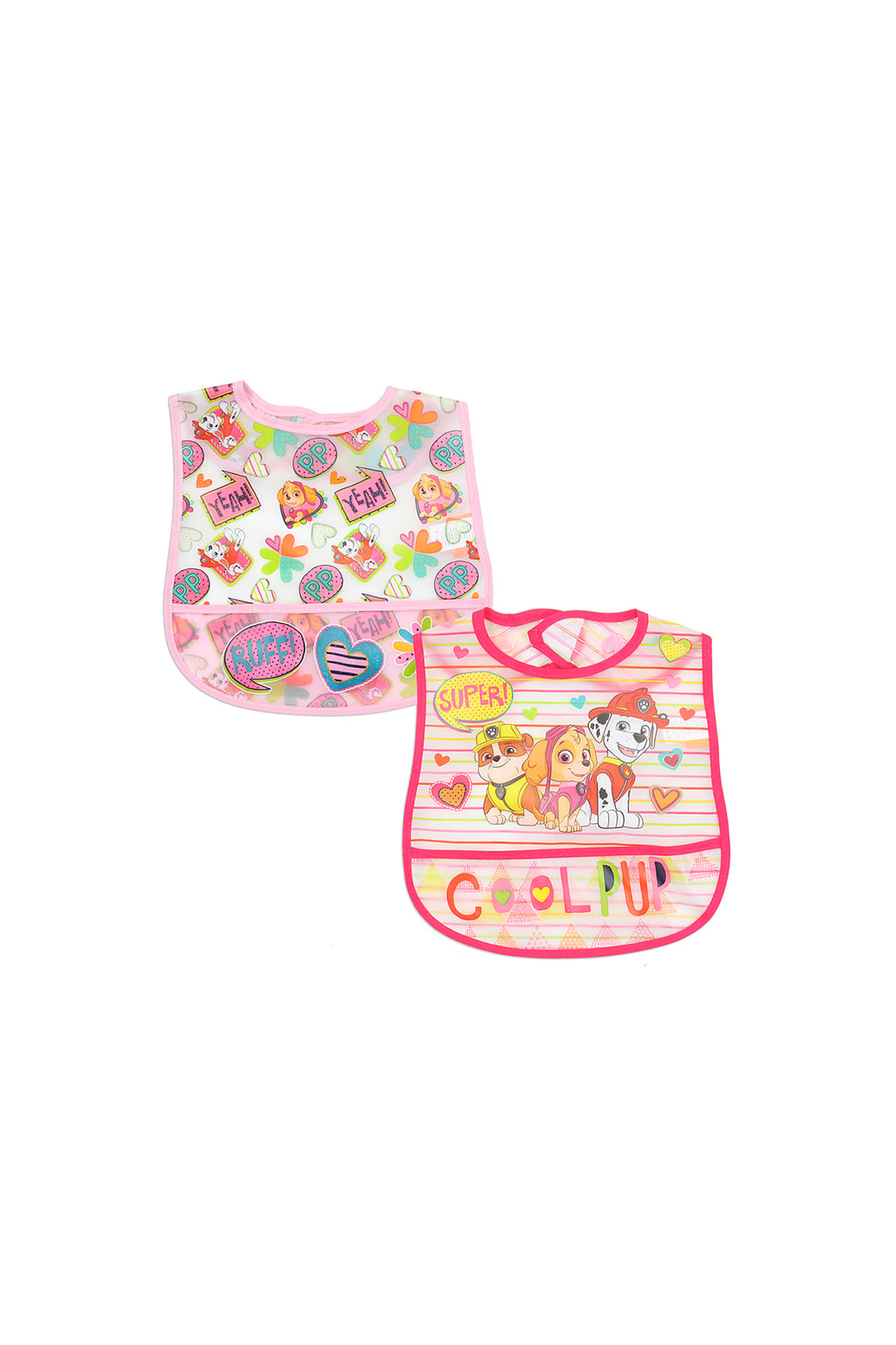 Paw Patrol 2 Pack Waterproof Bibs