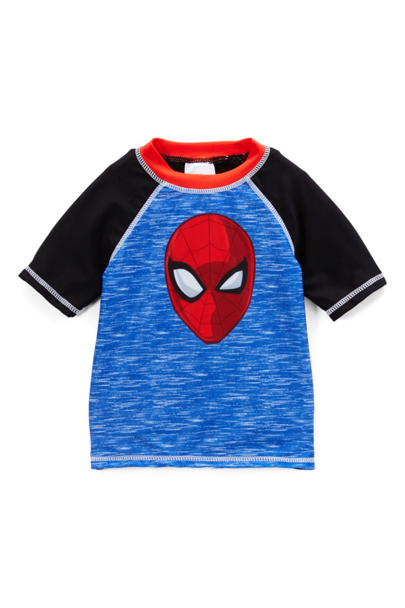 Boys Spiderman Blue Swim Top