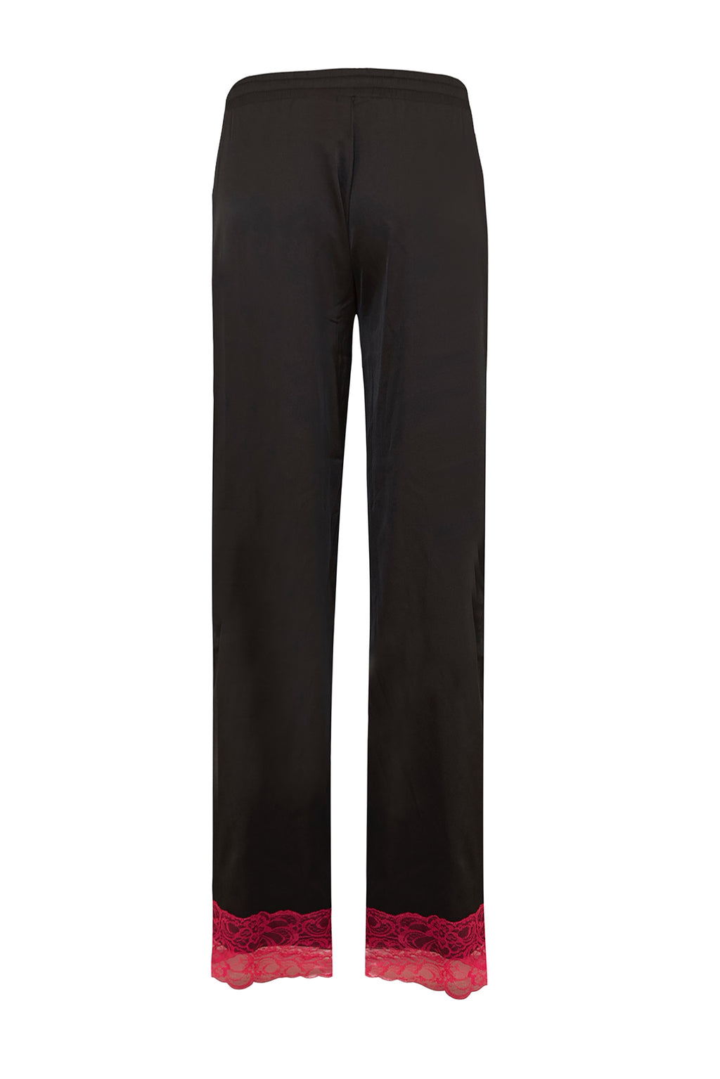 Black Satin Lace Trousers