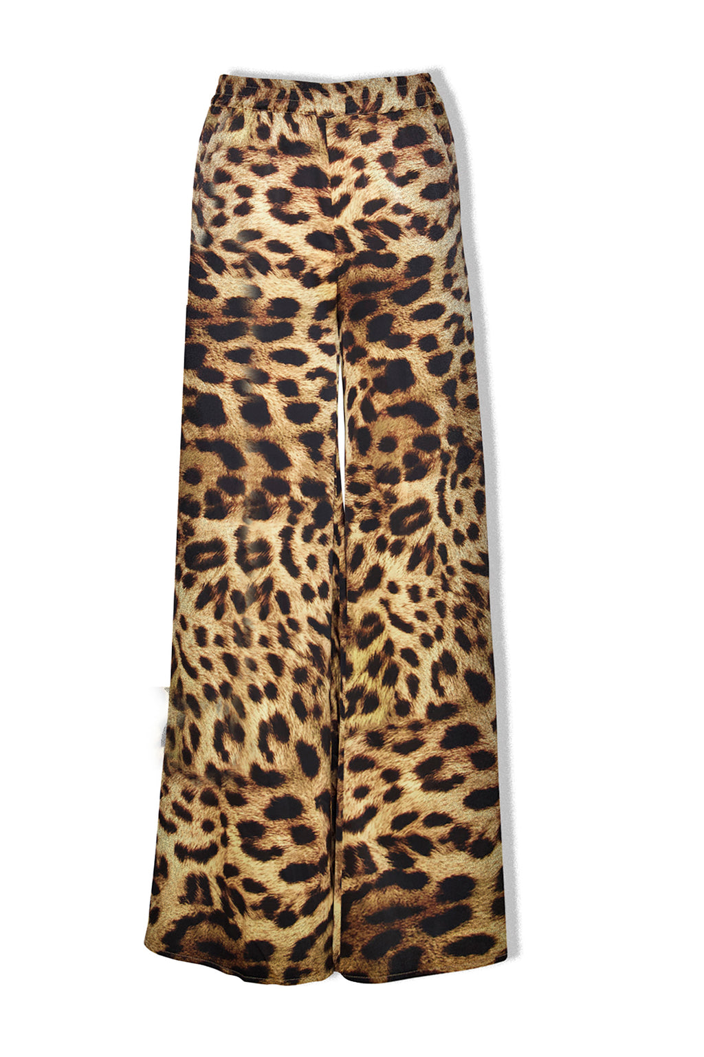 Ilona Rich Leopard Print Wide Leg Trousers