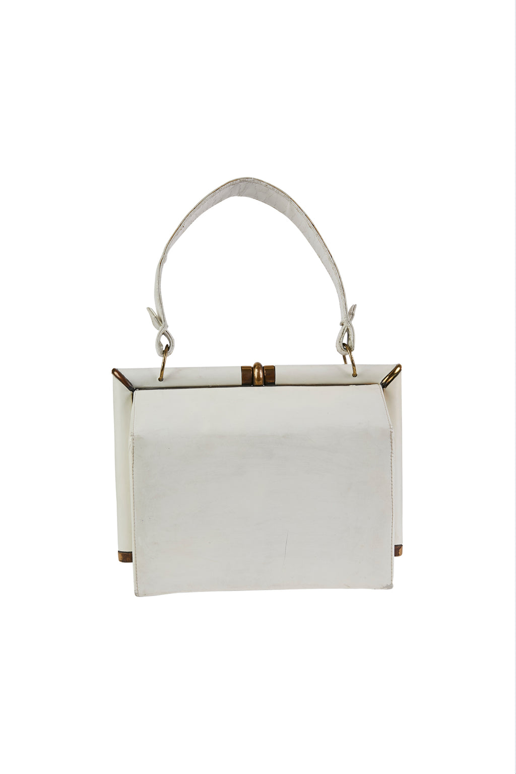 Vintage Off-White Leather Bag