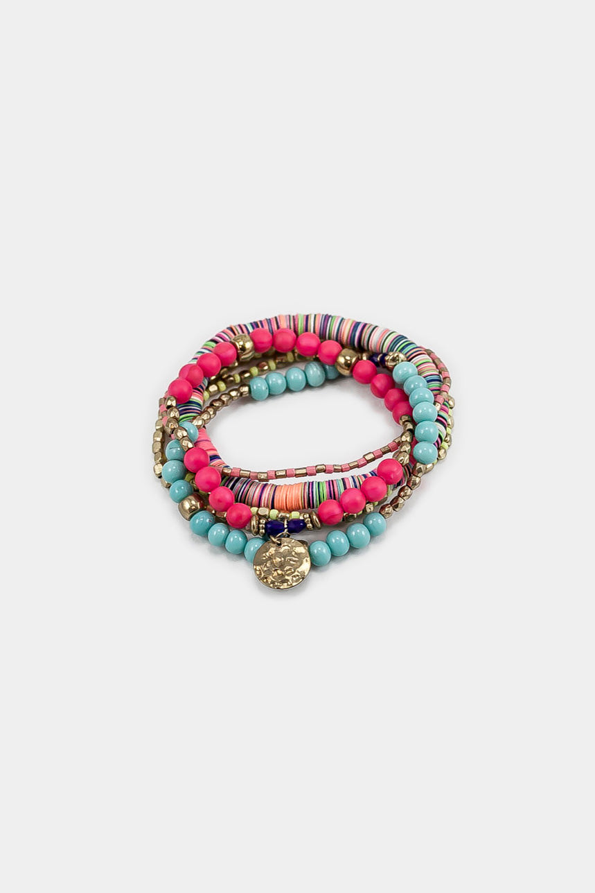 6 Layers Multi Beaded Stretch Bracelet