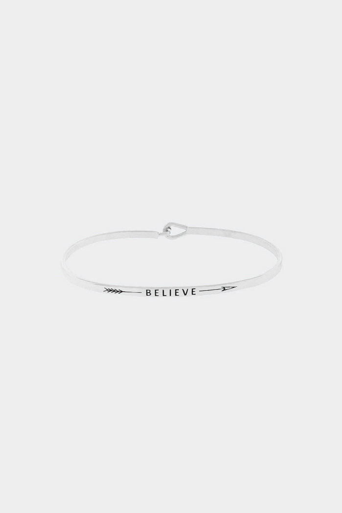 """Believe"" Hook Bracelet"