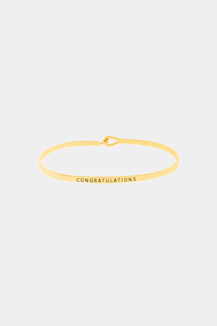 """Congratulations"" Hook Bracelet"