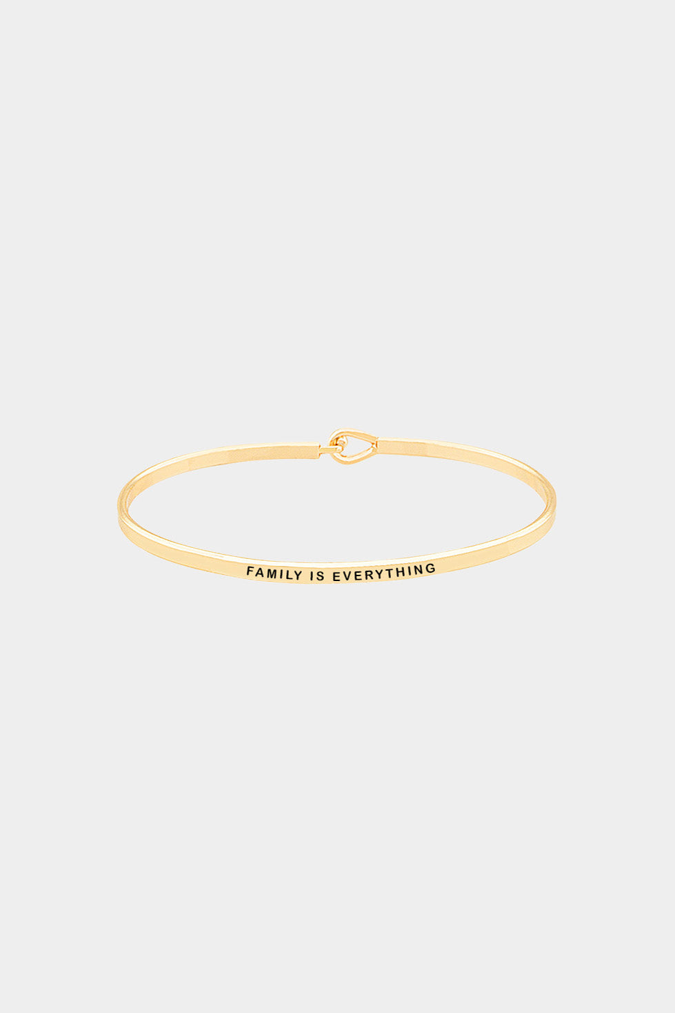 """Family Is Everything"" Hook Bracelet"