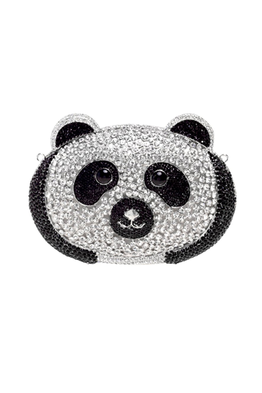 Diamante Shell Panda Clutch