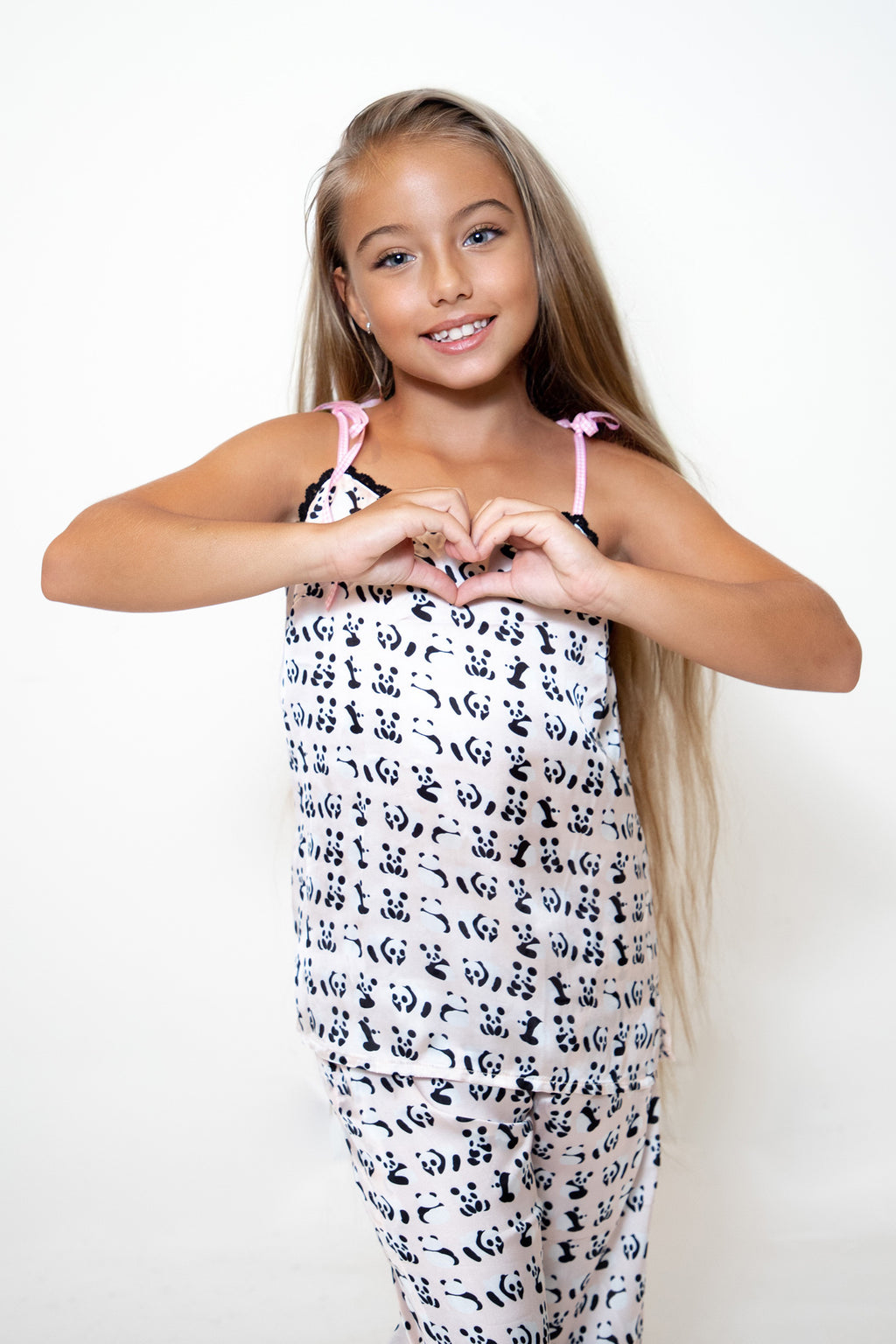 Kids Panda Print Cami Top
