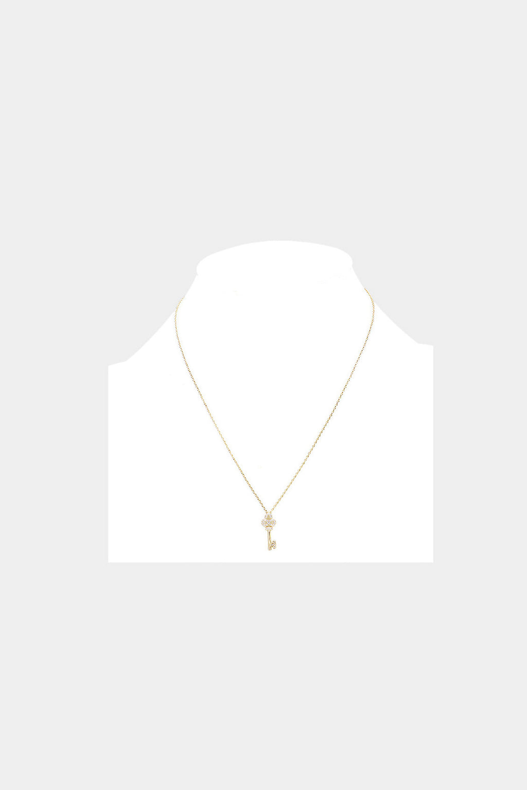 Cubic Zirconia Key Necklace