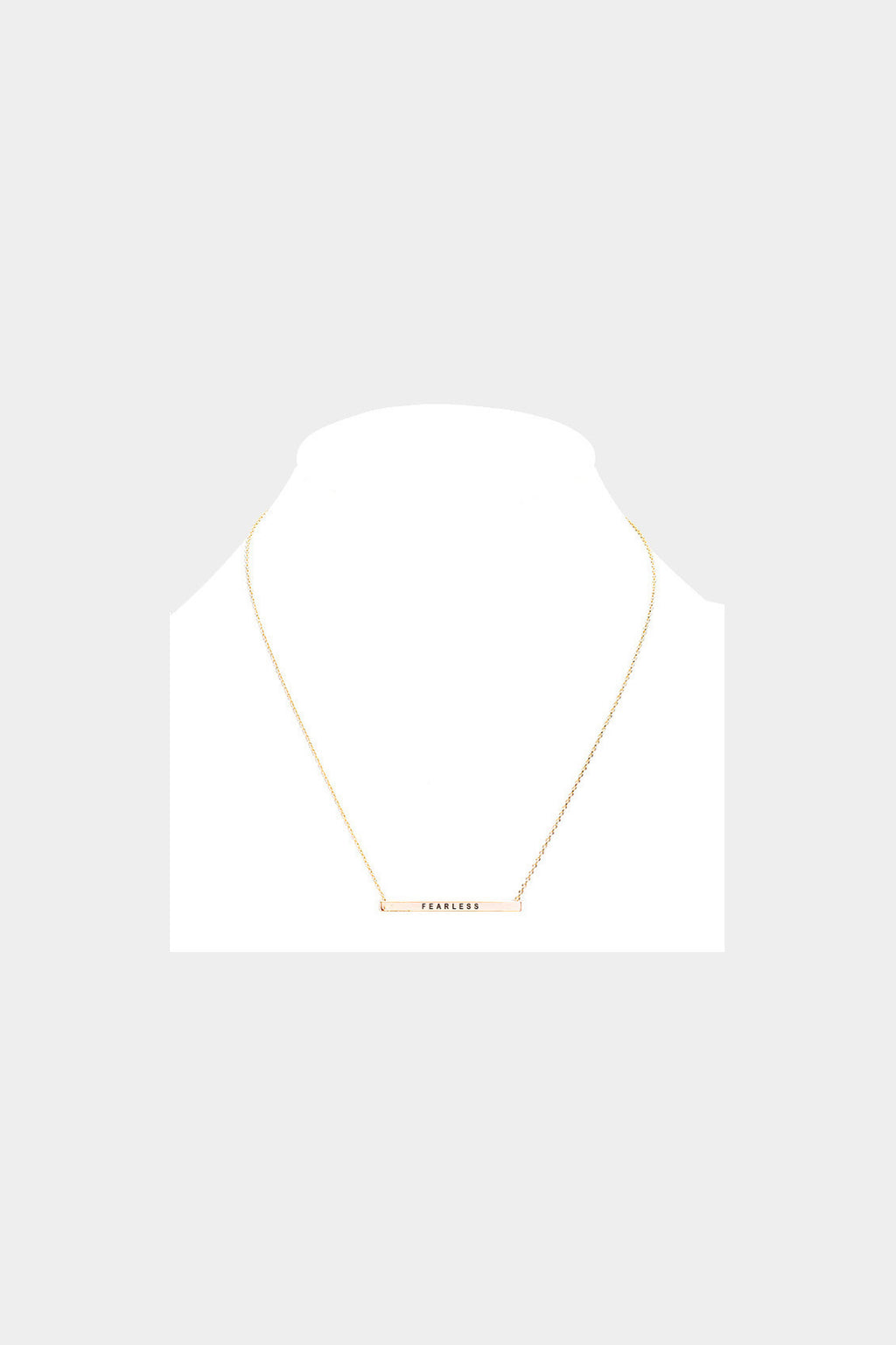 """Fearless"" Horizontal Metal Bar Necklace"