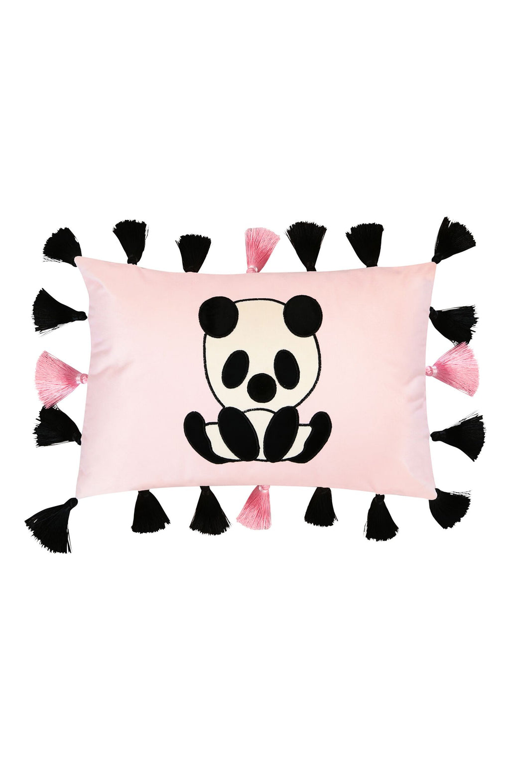 Panda Cushion with Tassels