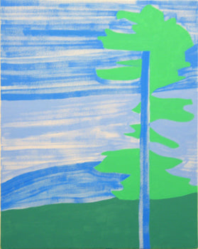 Green Tree (Blue)