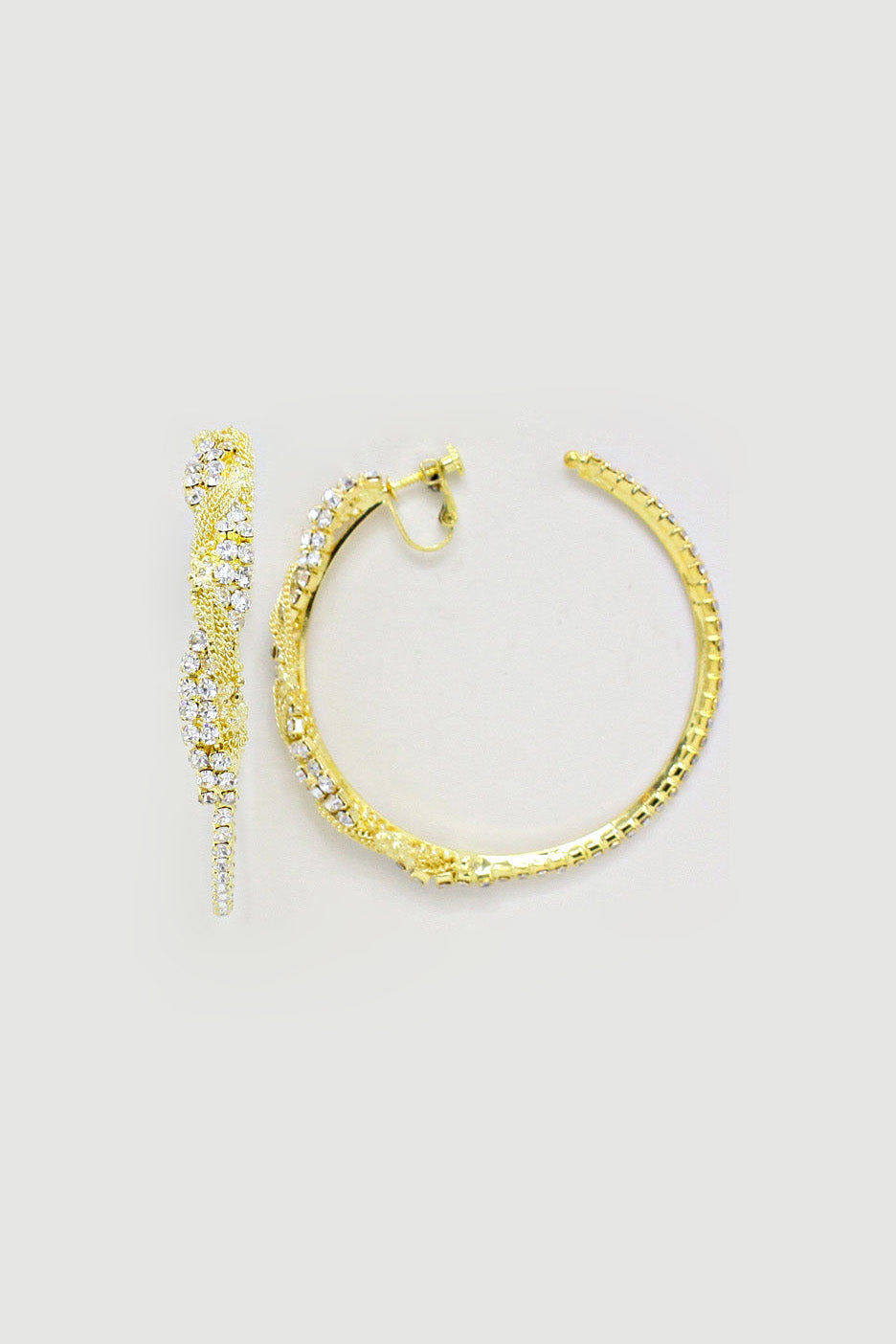 Crystal Rhinestone Hoop Earrings