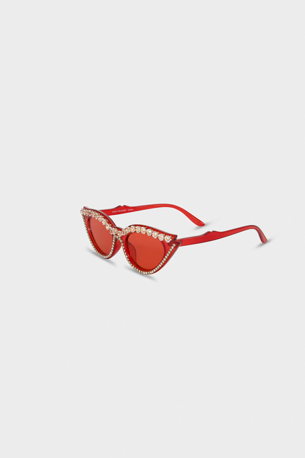 Red Cat Eye Rhinestones Glasses