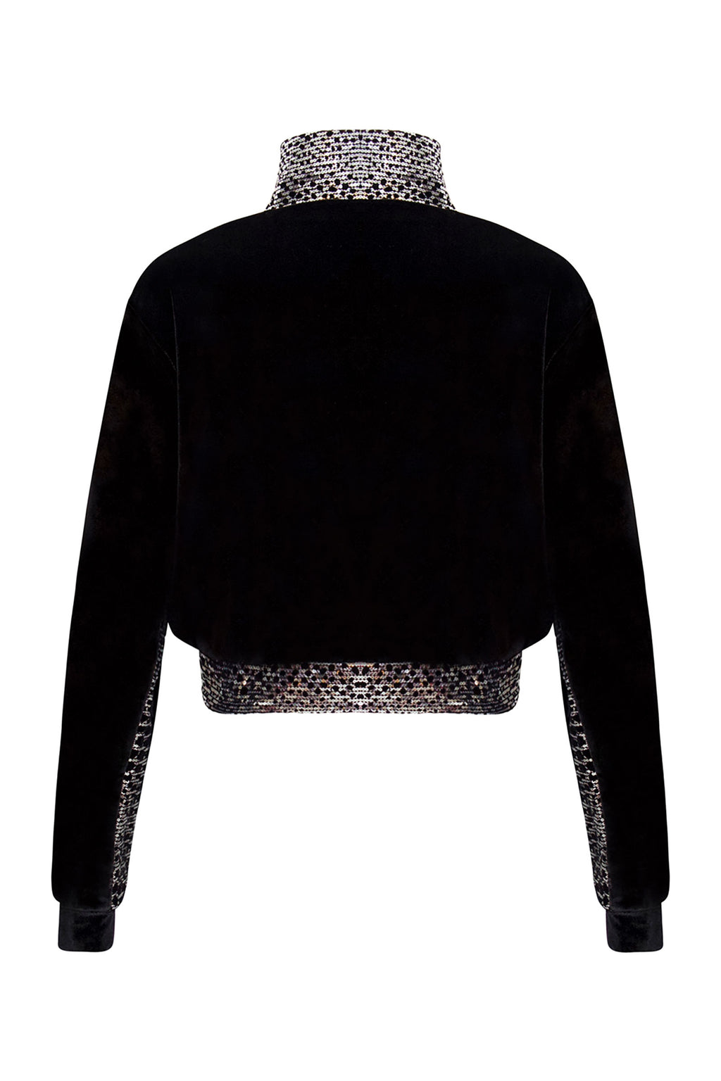 Ilona Rich Velvet Reptilian Sequin Crop Jacket.