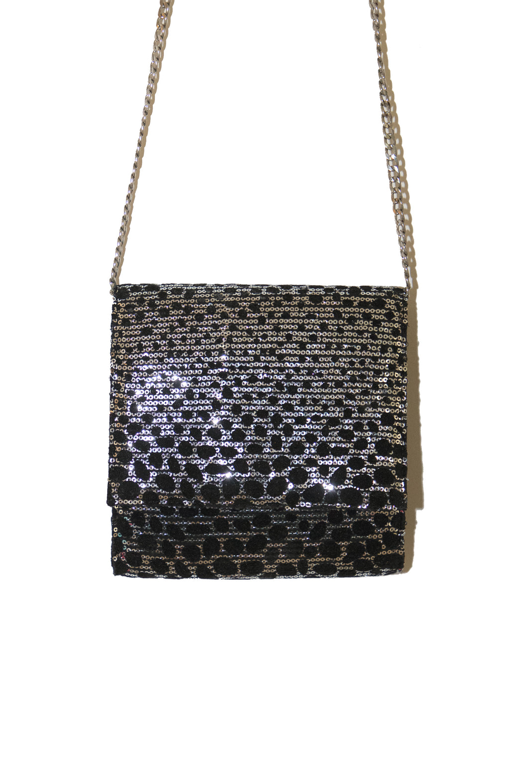 Reptilian Print Sequin Bag
