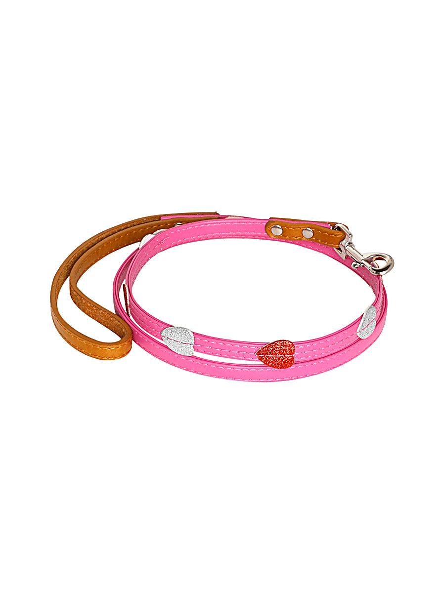 LOVE ON A LEASH collar and lead set