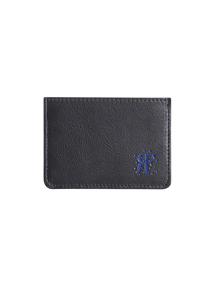 Metallic Blue RF Logo Card Holder
