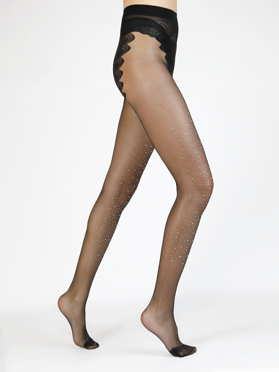Sheer Bedazzled Tights