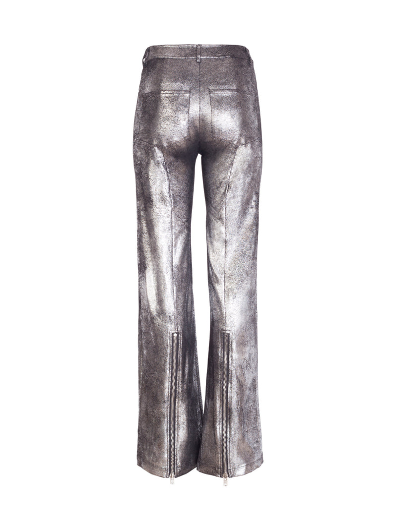 Silver Flared Trousers