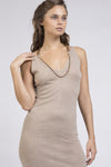 Tan 100% Cashmere Bodycon Dress