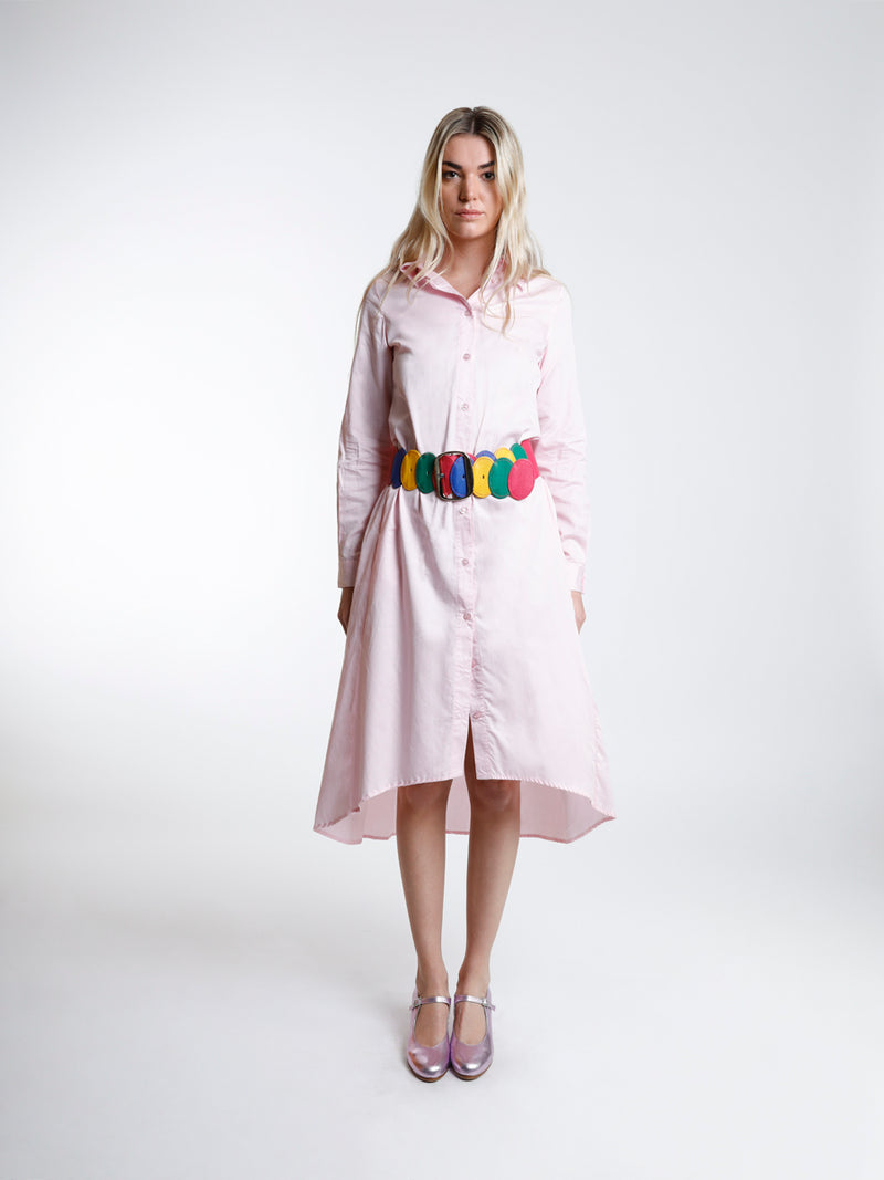 Asymmetric Cotton Shirt Dress