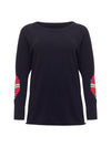 Unisex Cashmere Jumper with Tartan Elbow Patches