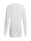 White Unisex Cashmere Long Sleeve Jumper