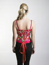 Floral Embroidered Corset Top