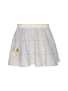 Jersey Skirt with Quirky Embroidery Detail