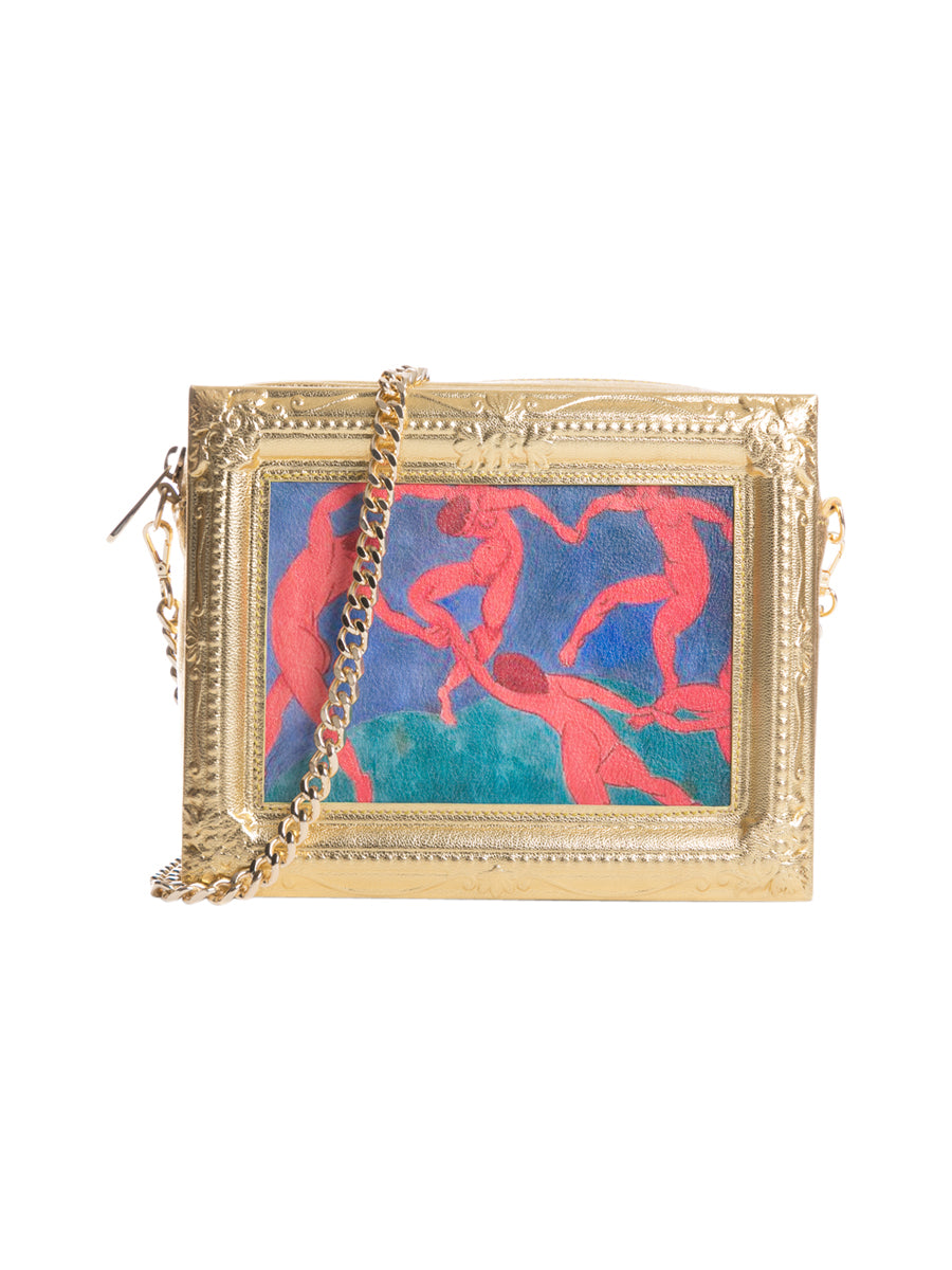 The Dance Framed Gold Leather Bag