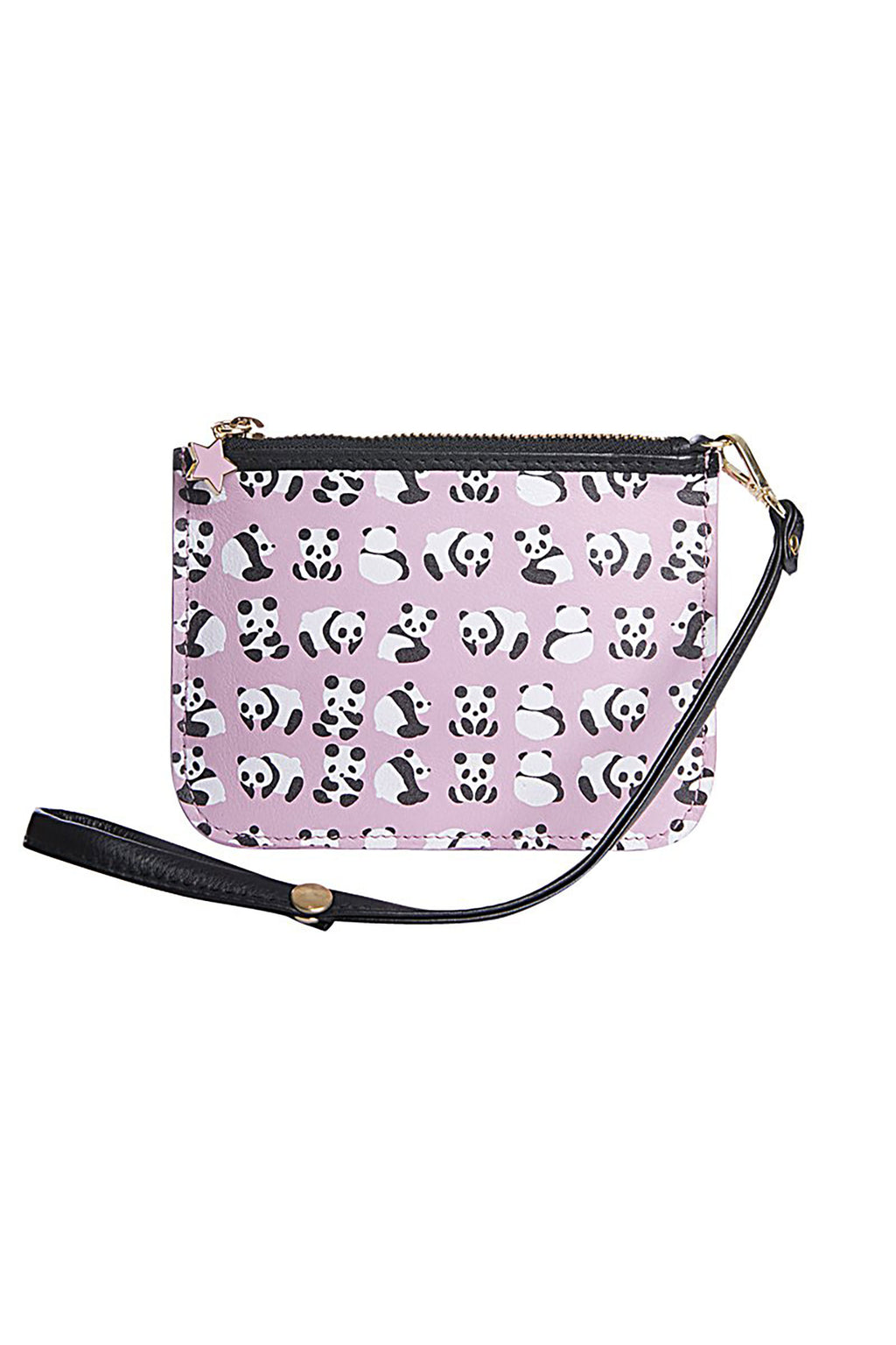 All Over Panda Print Zipper Pouch