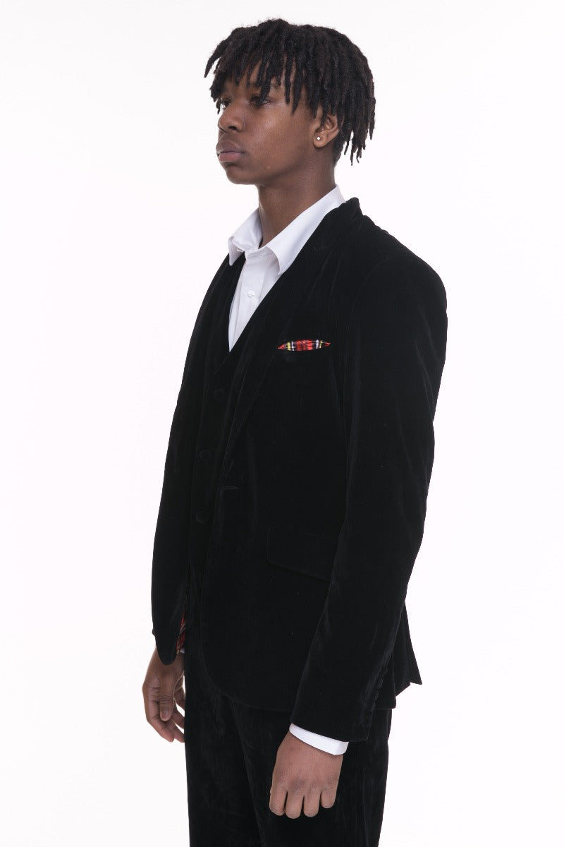 Black Velvet Men's Jacket front