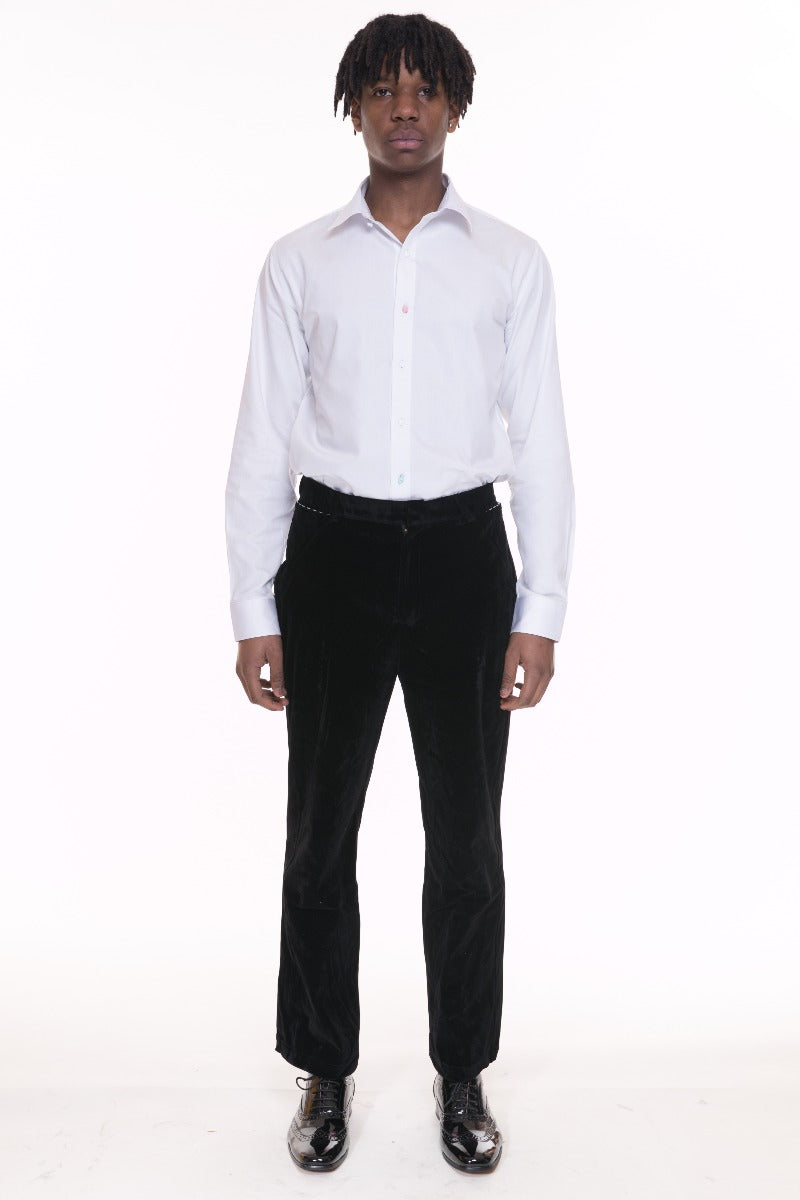 Black Velvet Men's Trousers by Adrian Schachter