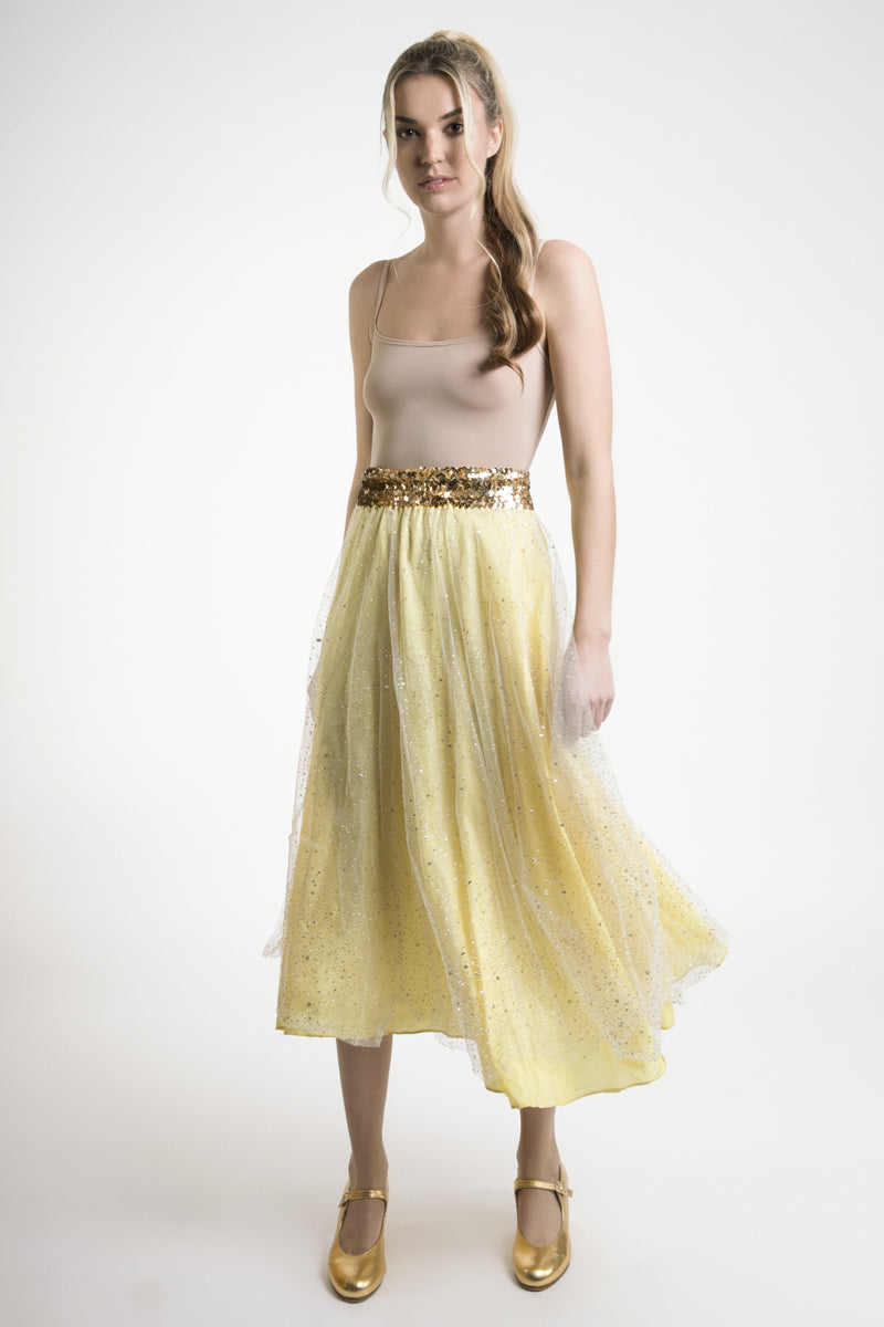 Signature Embellished Tulle Prom Skirt