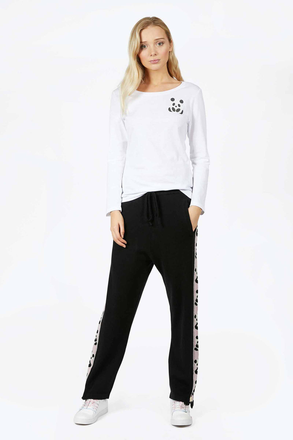 Panda Cashmere Zip Track Pants (2 colors)