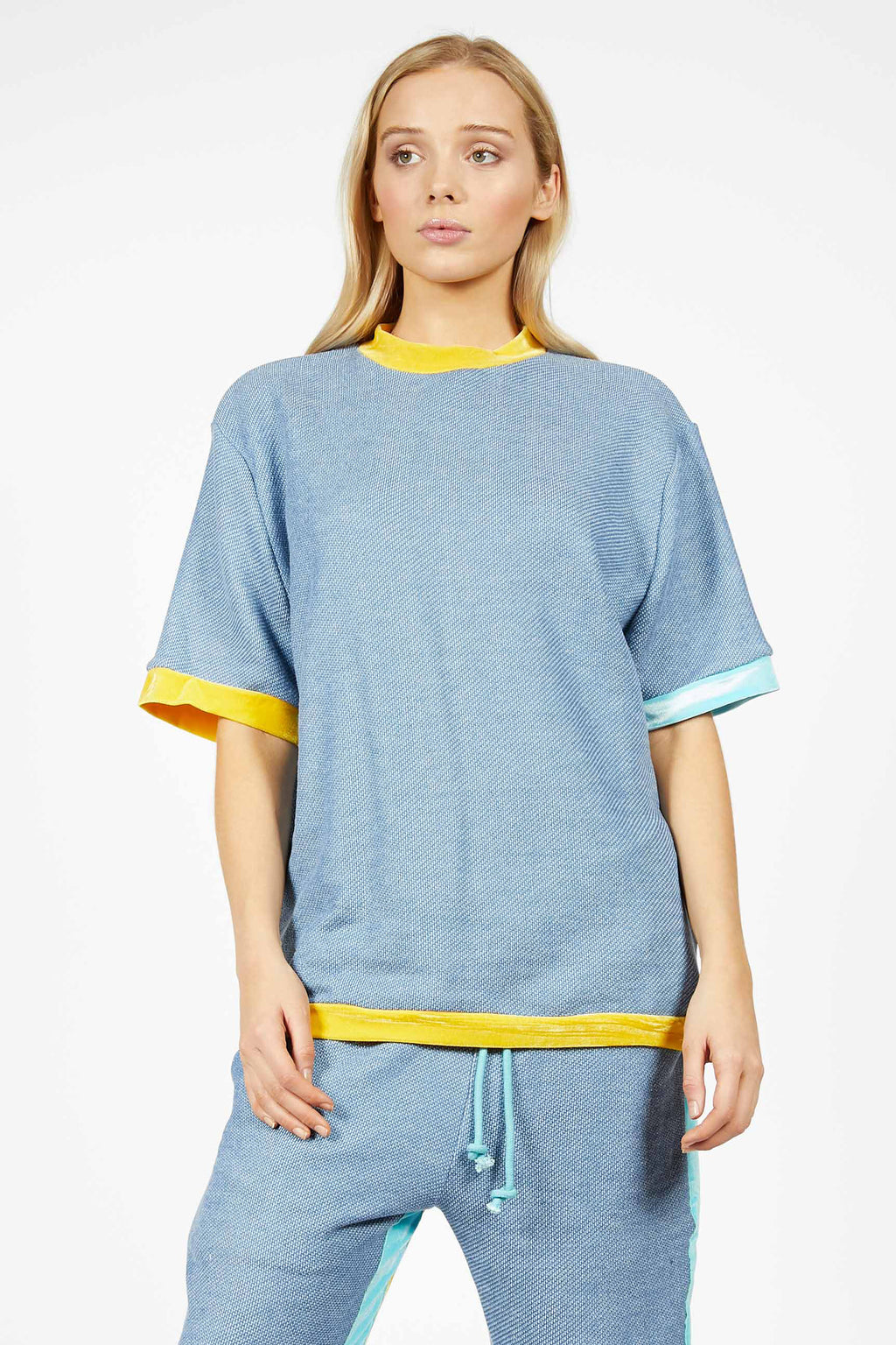 Unisex Heartbeat Colourblock T-Shirt