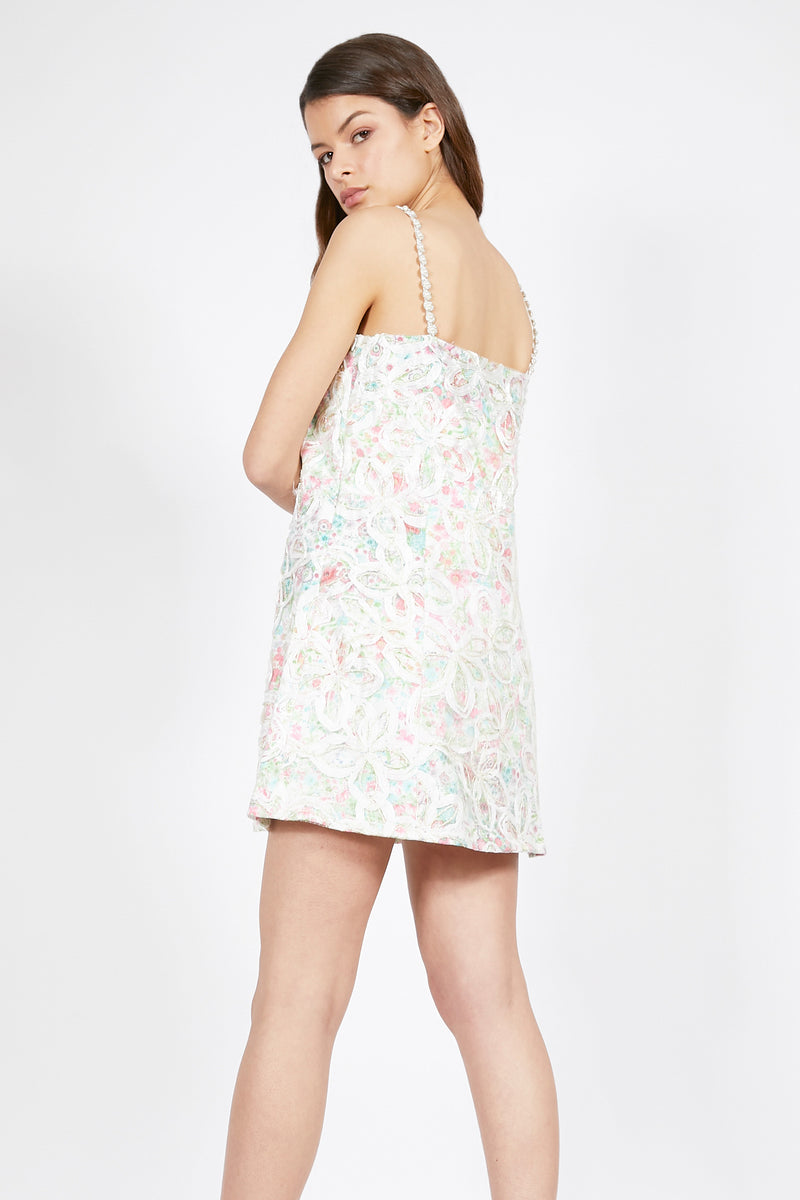 Floral Embroidered Party Dress