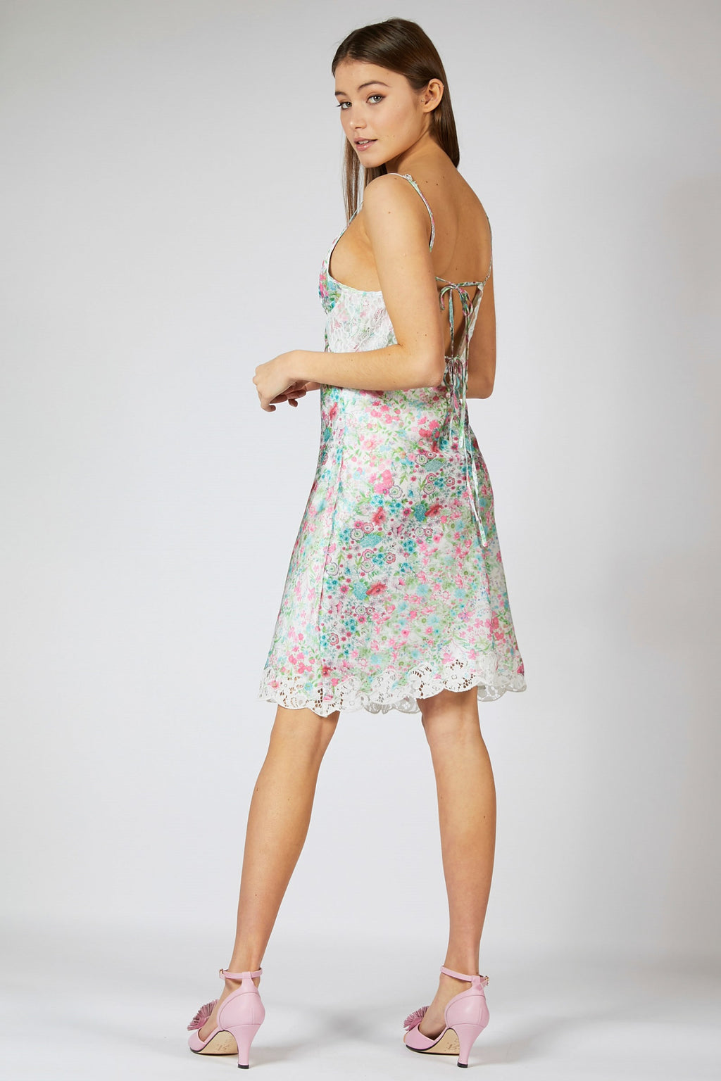 Floral Satin Slip Dress