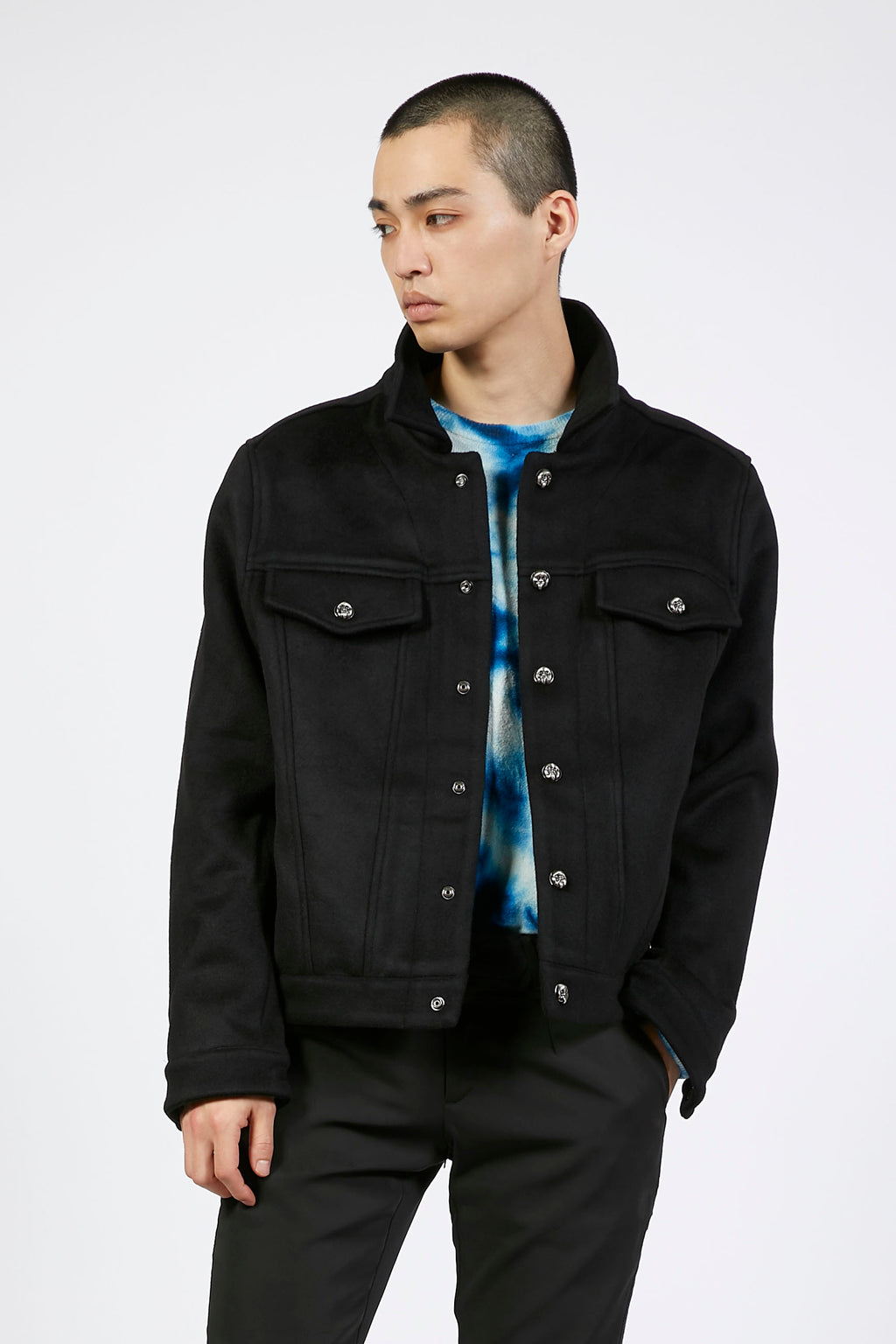 Black Wool Winter Jacket
