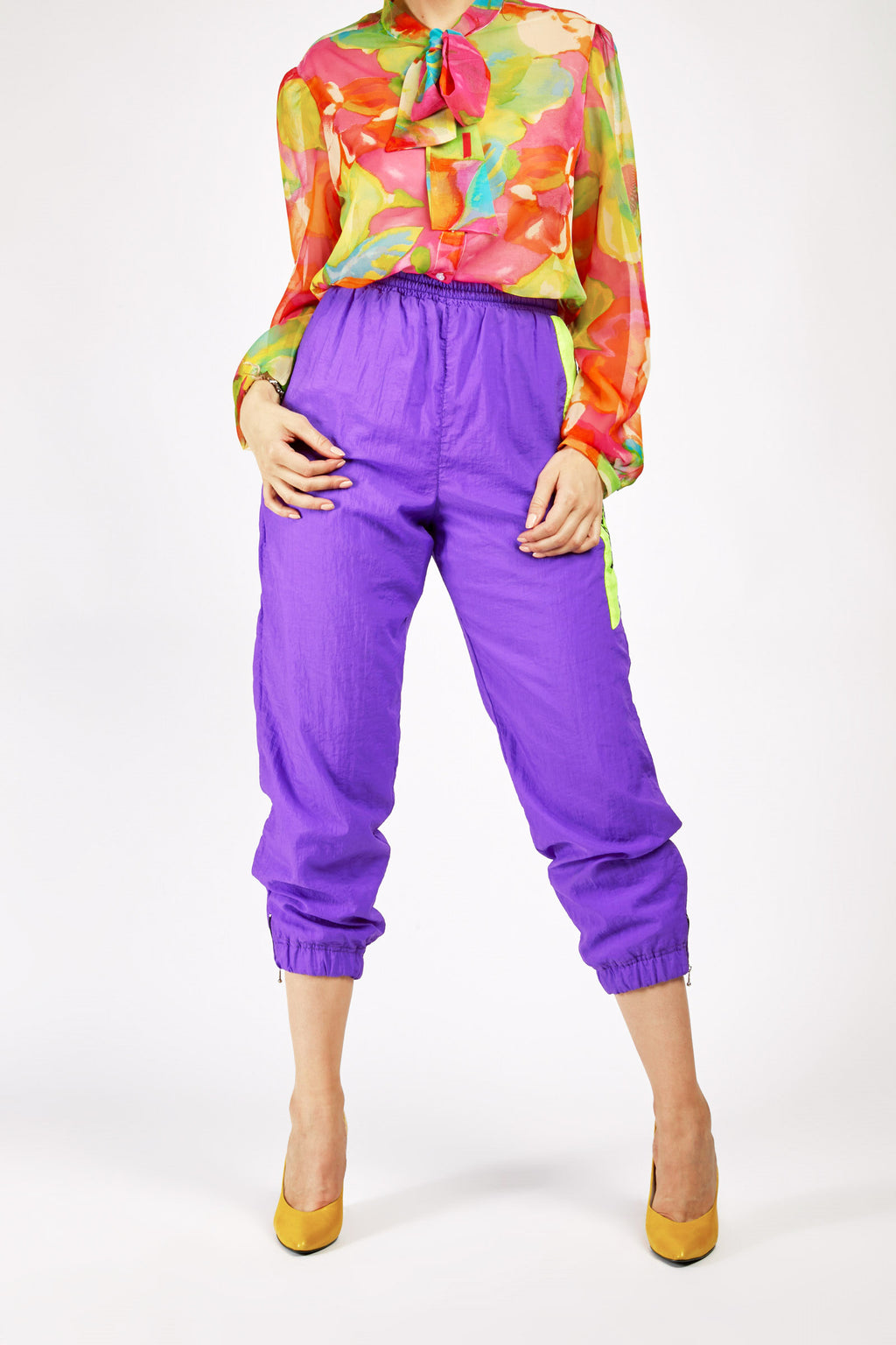 Vintage Purple Reebok Tracksuit Trousers
