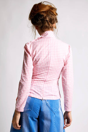 Ilona Rich Gingham Character Print Shirt