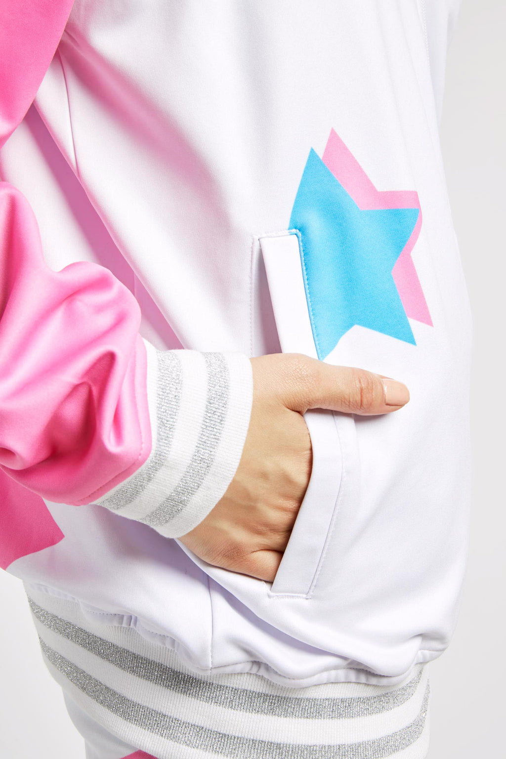 White Star Print Tracksuit Jacket