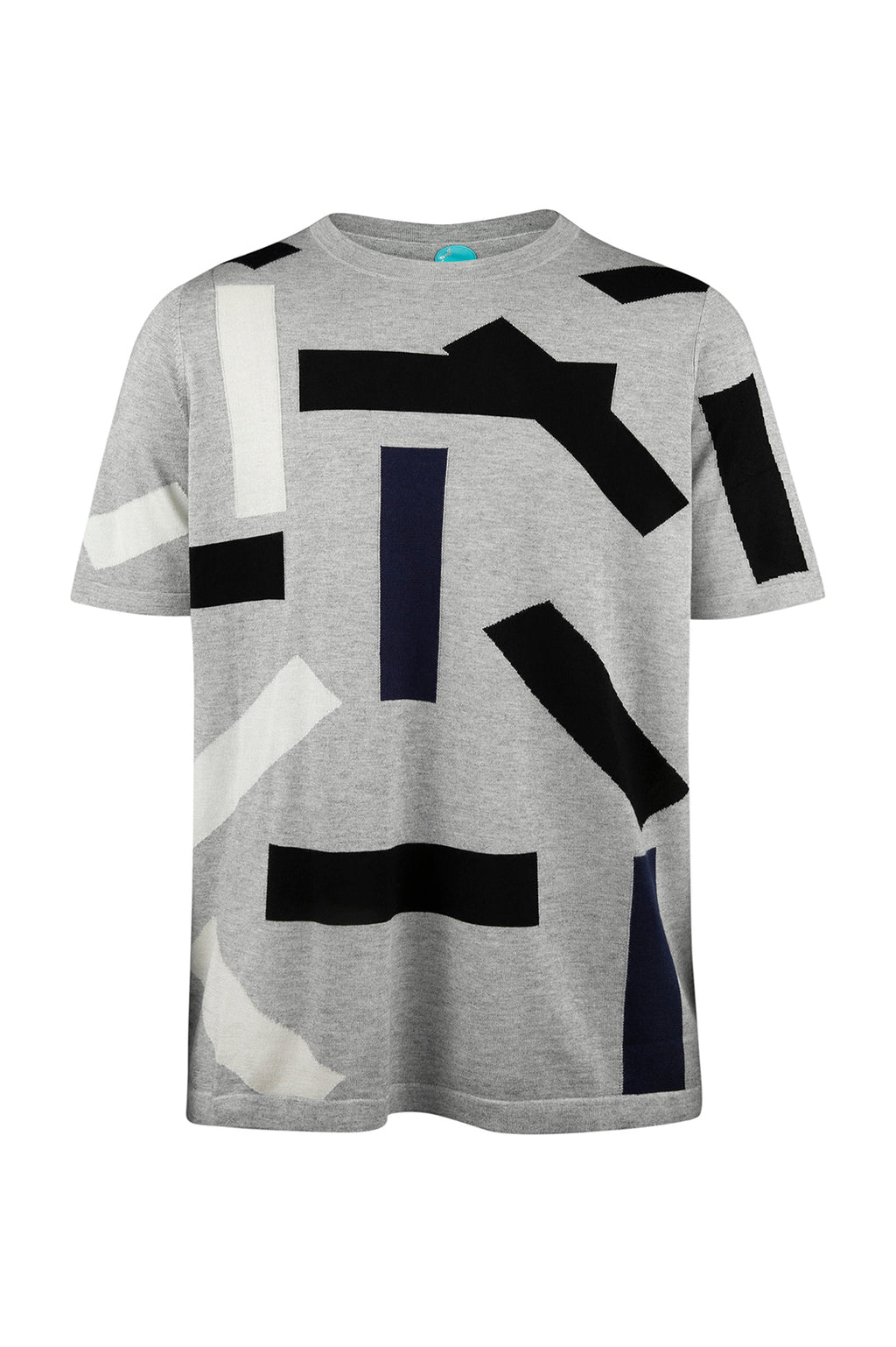 Unisex Cashmere Block T-Shirt Grey