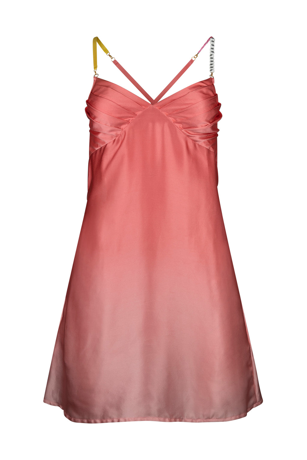 Vintage Gradient Satin Summer Dress
