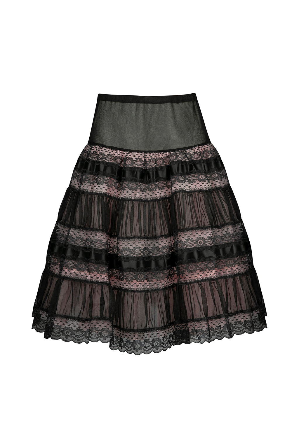 Vintage Lace Skirt with Silk Underlining